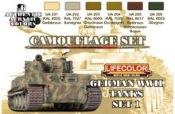 German WWII Tanks #1 Camouflage Acrylic Set (6 22ml Bottles)