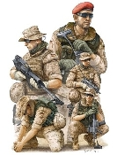 Modern German ISAF NATO Soldiers in Afghanistan Figure Set (5)