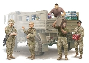 Modern US Soldiers Logistics Supply Team Figure Set (5)