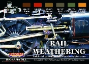 Rail Weathering Diorama Acrylic Set (6 22ml Bottles)