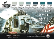 US Navy WWII #1 Camouflage Acrylic Set (6 22ml Bottles)
