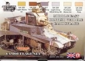 British WWII Middle East Vehicles Camouflage Acrylic Set