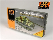 German Camouflage Green & Brown Modulation Acrylic Paint (6 Colors) 17ml Bottles