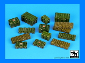 1/35 Universal modern plastic boxes accessories set