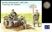 WWII German BMW R75 Motorcycle & 4 Motorcyclists 1940-43