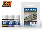 Naval Ships Weathering Vol.2 Enamel Paint Set (301, 305, 306)