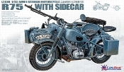 WWII German BMW R75 with Sidecar w/ Photo-etched parts