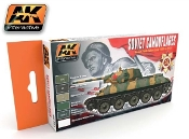 Soviet Tank Camouflage 1935-1945 Acrylic Paint Set (6 Colors) 17ml Bottles