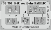 1/32 Aircraft- F4U Seatbelts Fabric-Type for TAM (Painted)