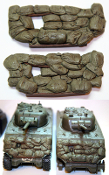 1/35 Sandbag Fronts for M4A3 Sherman SB1 (2 Pack)