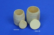 1/35 Wood barrel, for wine... or beer...height 23mm, diameter 18mm 4 pcs
