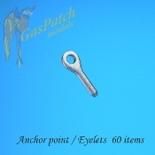 1/48 Metal Anchor Points/Eyelets (60)