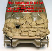 1/35 Sandbag Fronts for Asuka/Taska M4A1 Sherman