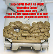 "1/35 Sandbag Fronts for Dragon M4A1 ""Operation Cobra"" Sherman"