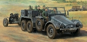 German 6x4 Kfz69 Towing Truck w/3.7cm Pak Gun