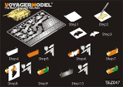 1/35 WWII German AFV Disc pattern camouflage masking stencil 3(for Hetzer) (GP)