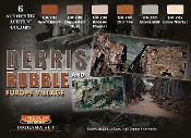 Debris Rubble & Europe Village Diorama Acrylic Set (6 22ml Bottles)