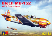 Bloch MB 152 WWI French Fighter Vichy