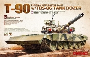 T90 Russian Main Battle Tank w/TBS86 Dozer