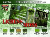 Lichens & Moss Powder & Color Acrylic Set (6 22ml Bottles)