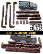 "1/72 Sand Bag Walls ""Straight"""