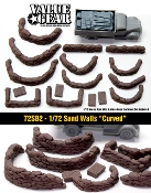 "1/72 Sand Bag Walls ""Curved"""