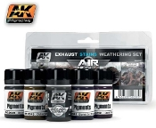 Air Series: Exhaust Stains Weathering Set (5 Colors) 35ml Bottles
