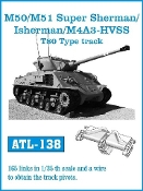 1/35 M50/51 Super Sherman/Isherman/M4A3 HVSS T80-Type Track Set (165 Links)