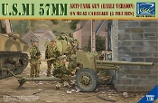 US M1 57mm (Early Version) Anti-Tank Gun on M1A3 Carriage w/5 Crew