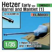 1/35 Hetzer Early version Barrel and Mantle Set 1 (for Academy)