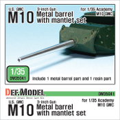 1/35 U.S. M10 GMC Barrel and Mantlet Set