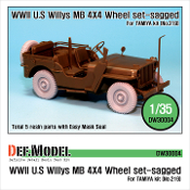 1/35 WWII U.S Willys MB Wheel set (for Tamiya)