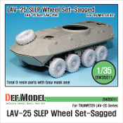 1/35 LAV-25 SLEP Sagged Wheel set (for Trumpeter)