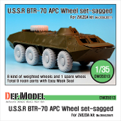 1/35 BTR-70 APC Sagged Wheel set (for Zvezda)