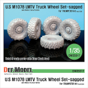 1/35 M1078 U.S LMTV Truck Sagged Wheel set (for Trumpeter)