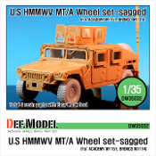 1/35 HMMWV BFGR Sagged Wheel set (Academy M1151, Bronco M1114)
