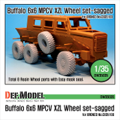 1/35 Buffalo 6x6 MPCV Mich. XZL Sagged Wheel set (for Bronco)