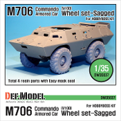 1/35 US M706 Commando Armored Car sagged wheel set (for Hobbyboss)
