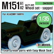 1/35 M151A1/A2 Mutt Jeep Wheel set (Academy/Tamiya)