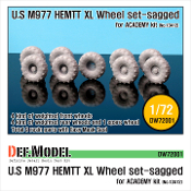 "1/72 M977 HEMTT Micherin ""XL"" Sagged Wheel set (for ACADEMY)"