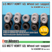 "1/72 M977 HEMTT Micherin ""XZL"" Sagged Wheel set (for ACADEMY)"