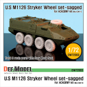 1/72 M1126 Stryker Sagged Wheel set (ACADEMY/Trumpeter)