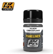 Air Series: Panel Liner Black Camouflage Enamel Paint 35ml Bottle