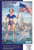 1/24 Betty American Beauty Pin-Up Girl Standing Holding American Flag