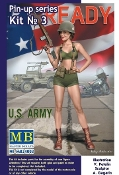 1/24 Alice US Army Pin-Up Girl Standing Holding Rifle