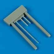 1/48 MS406 Gun Barrels & Pitot Tube for HCC (D)
