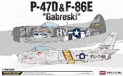 P47D & F84E Gabreski US Fighter (2 Kits)