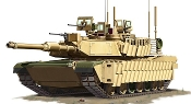 US M1A2 SEP Tusk II Abrams Main Battle Tank 1980-Present