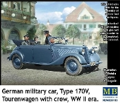 WWII German Type 170V Tourenwagen Military Car w/6 Figures