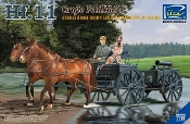 German Hf11 Horse Drawn Large Field Kitchen w/2 Horses, Figure & Dog
